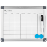 "White Magnetic Double-Sided Dry Erase Board & Calendar - 11"" x 14"""