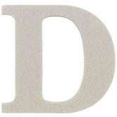 "Chipboard Letter D - 3 1/2"""