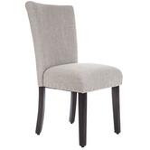 Gray Parsons Linen Chair