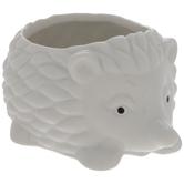 White Hedgehog Flower Pot