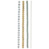 Green & Gold Assorted Glass Bead Strands