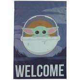 Star Wars Baby Yoda Welcome Garden Flag