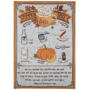 Pumpkin Spice Latte Recipe Tin Sign