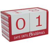 Red & White Striped Countdown Calendar