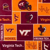 Virginia Tech Block Collegiate Fleece Fabric