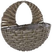Gray Woven Wall Basket