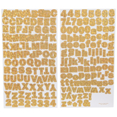 Gold Holographic Franklin Alphabet Stickers