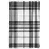 Black & White Plaid Tablecloth