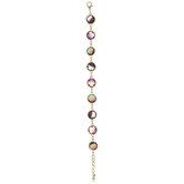 "Ombre Faceted Glass Bezel Bracelet - 7"""