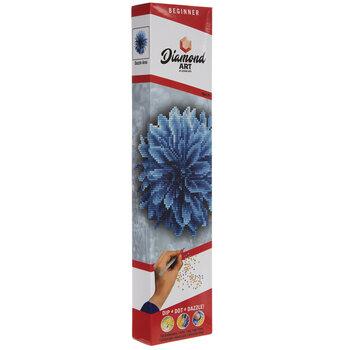Blue Dahlia Diamond Art Beginner Kit