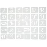 Grace Alphabet Adhesive Stencils