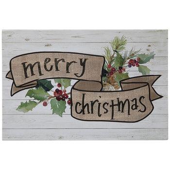 Merry Christmas Holly Wood Decor