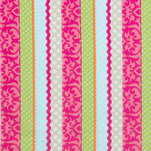 Multi-Color Pattern Striped Apparel Fabric
