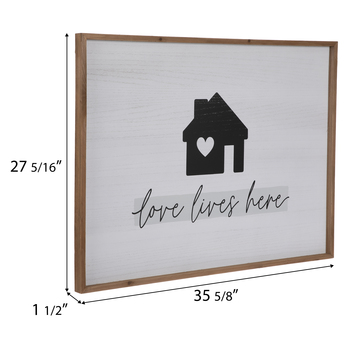 Love Lives Here Wood Wall Decor