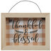 Thankful & Blessed Gingham Sign Ornament