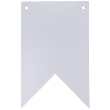 White Mixed Media Double Pointed Pennants