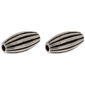 Striped Oval Beads - 6mm x 12mm