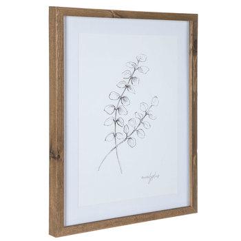 Sketched Branch Framed Wall Decor
