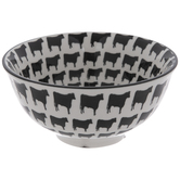 Black & White Cow Print Bowl