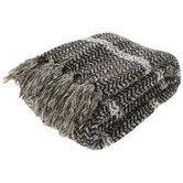 Woven Striped Throw Blanket