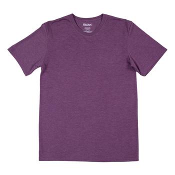 Heather Aubergine Adult Tri-Blend Crew T-Shirt - Small