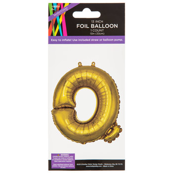 Gold Foil Letter Balloon - Q