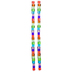 Transparent Multi-Color Cube Glass Bead Strands