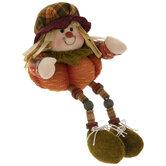 Plaid Hat Scarecrow Shelf Sitter