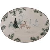Pine Tree Foliage & Reindeer Platter