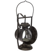 Black Miner's Metal Lantern