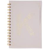 Pink & Gold Foil Letter Journal - K