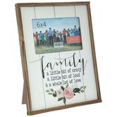 """Family Love Wood Frame - 6"""" x 4"""""""