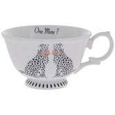 Cheetah With Pink Bow Tie Tea Cup