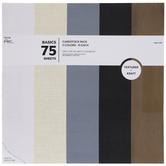 "Basics Textured Cardstock Paper Pack - 12"" x 12"""