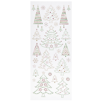 Traditional Christmas Tree Glitter Stickers