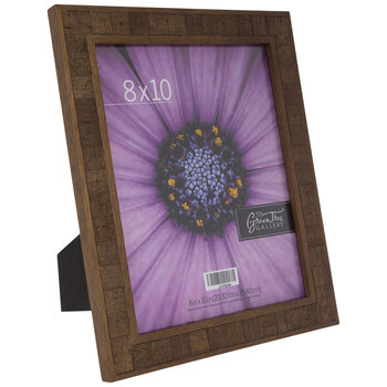 Antique Dark Walnut Rustic Wood Frame