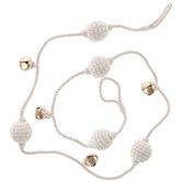Knit Ball & Bell Garland