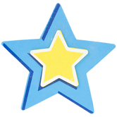 Blue Star Painted Wood Shape