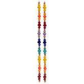 Multi-Color Gem-Cut Glass Bead Strands