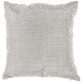 Silver Woven Pillow Cover