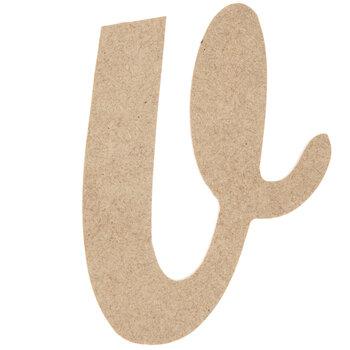 Lowercase Script Wood Letter - V