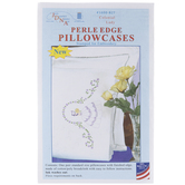 Colonial Lady Embroidery Pillowcases Kit