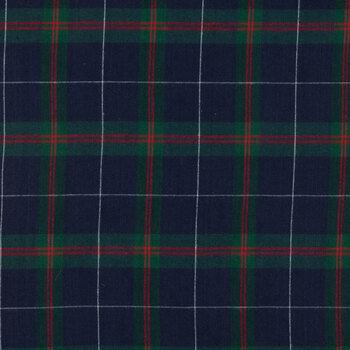 Blue & Green Plaid Flannel Fabric