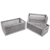 Gray Lattice Wood Crate Set