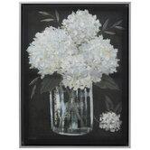 White Hydrangeas Canvas Wall Decor
