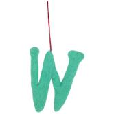 Plush Letter Wall Decor - W