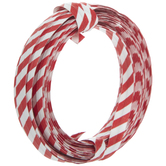 Candy Cane Striped Twist Tie Roll