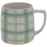 Dolly Parton White & Green Plaid Mug