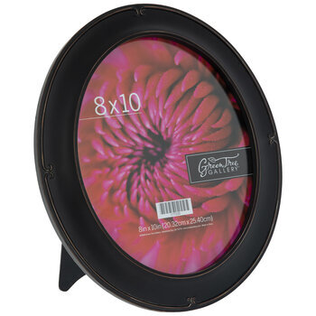 "Black Oval Frame With Swirl Edges - 8"" x 10"""