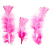 Candy Pink Feather Fluff